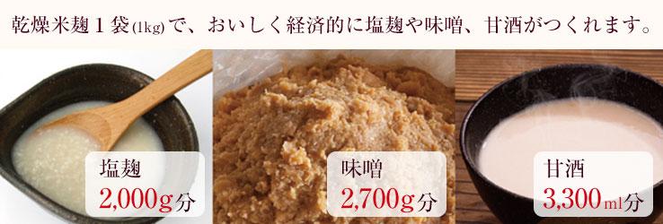 乾燥麹 塩麹 甘酒 味噌