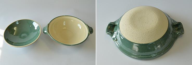 熟練の職人が作る土鍋七寸(青磁釉)