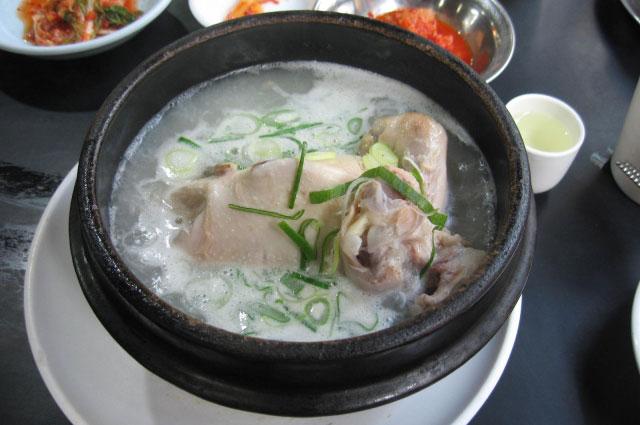 土鍋の参鶏湯