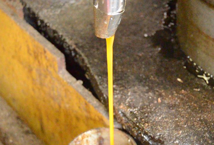 しぼり立ての油