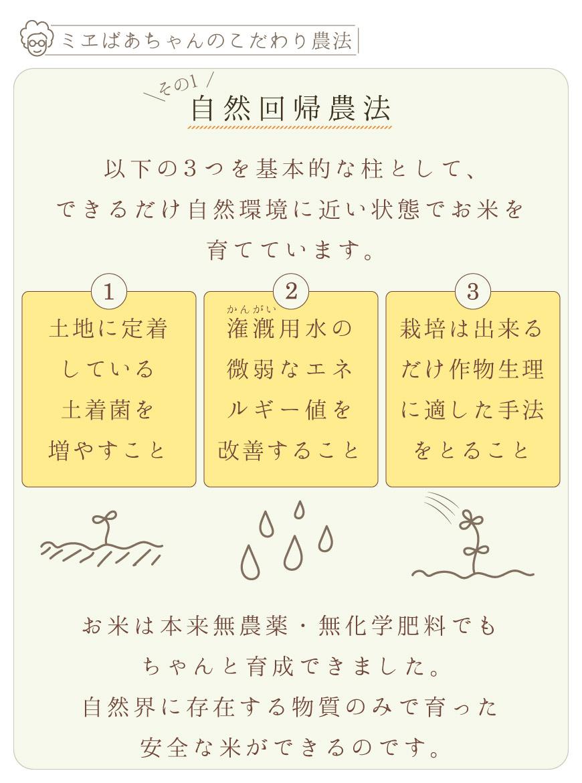 自然回帰農法で安全なお米を栽培しています。