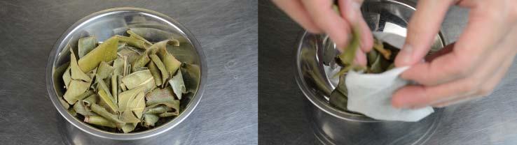 やかんでつくるびわの葉茶