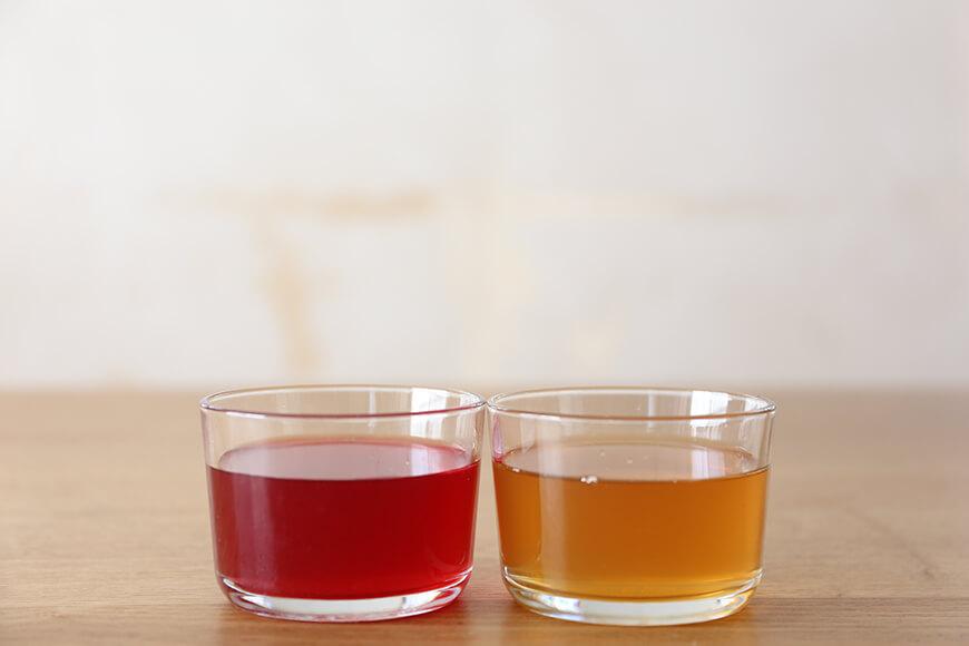 赤梅酢と白梅酢