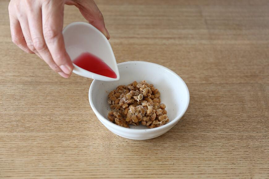 梅酢と納豆