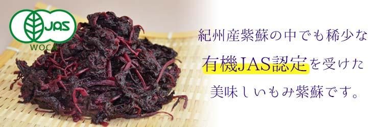 稀少な有機栽培もみ紫蘇