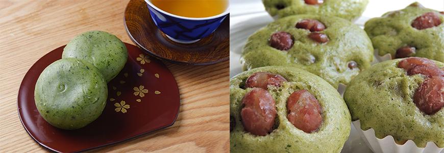 mugwort mochi & mugwort steamed pan