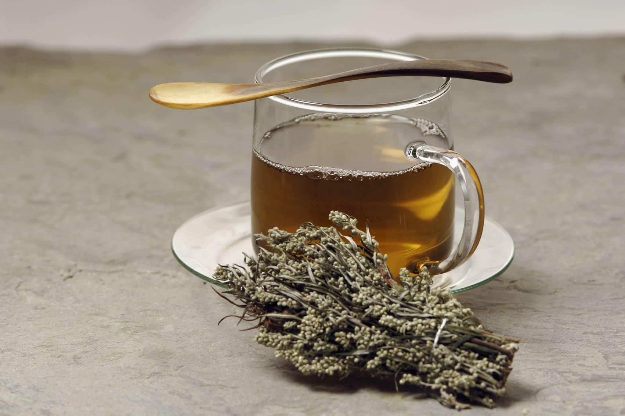 dried mugwort tea