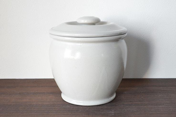 弥満丈製陶|ふた付きかめ【1.5升】