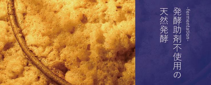 天然酵母による発酵