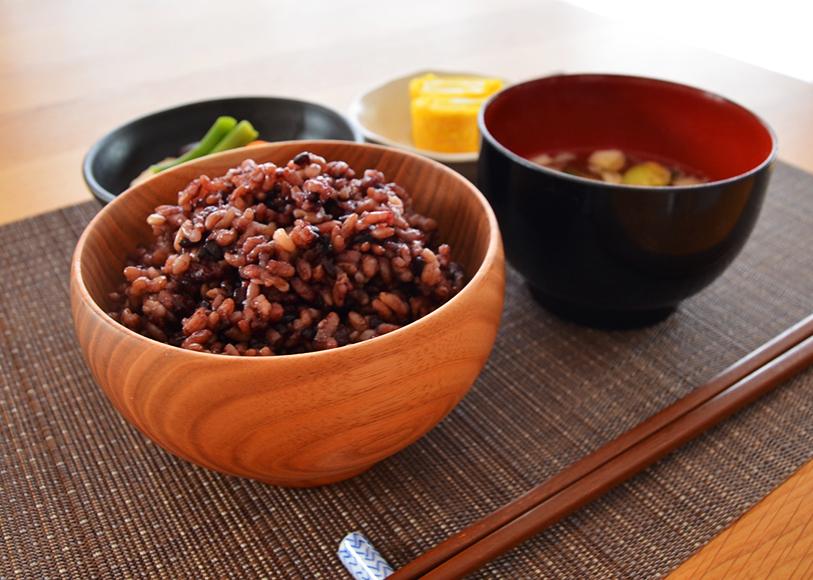 酵素玄米の食卓風景