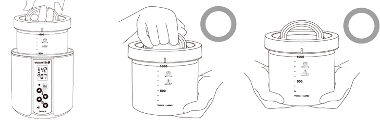 how to hold the glass pot