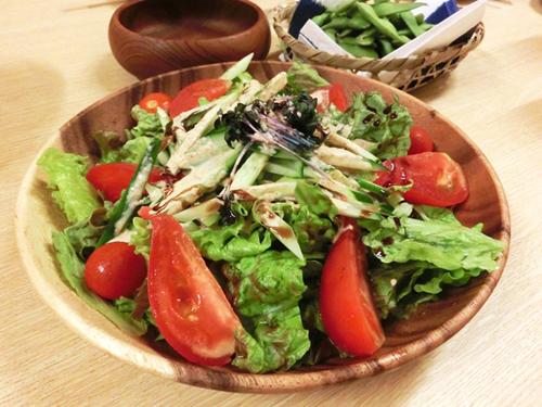 Salad With Black Garlic Bits