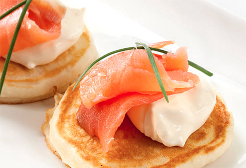 Mini Salmon Blini
