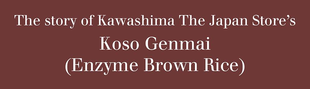 Story of Kawashima The Japan Store's Koso Genmai