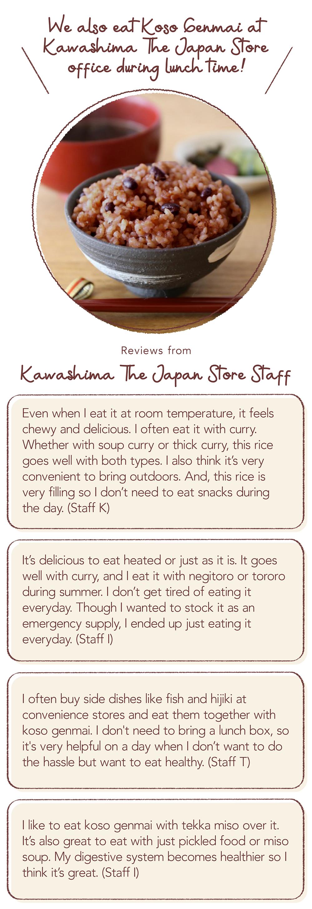 Kawashimaya Staff Reviews