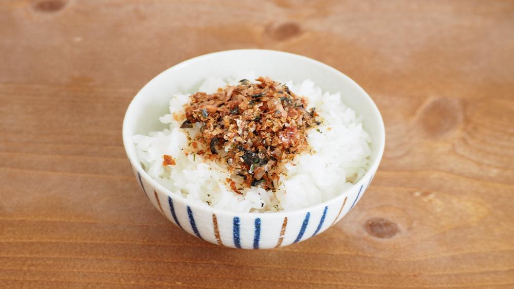 furikake on top of rice