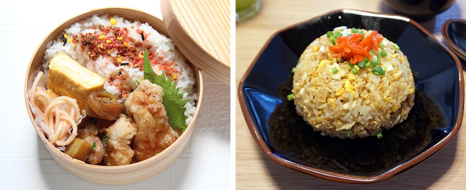 furikake in bento and fried rice