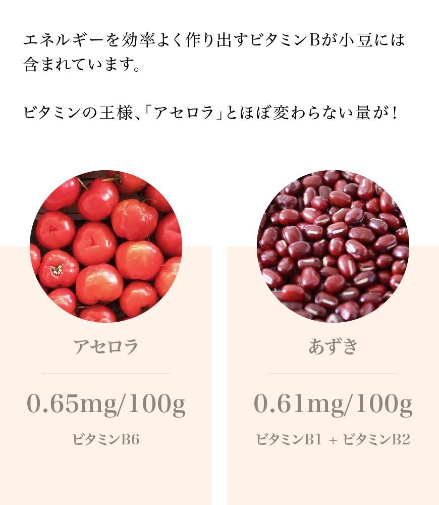 えりも小豆の栄養価