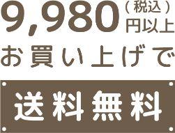 9980円以上で送料無料