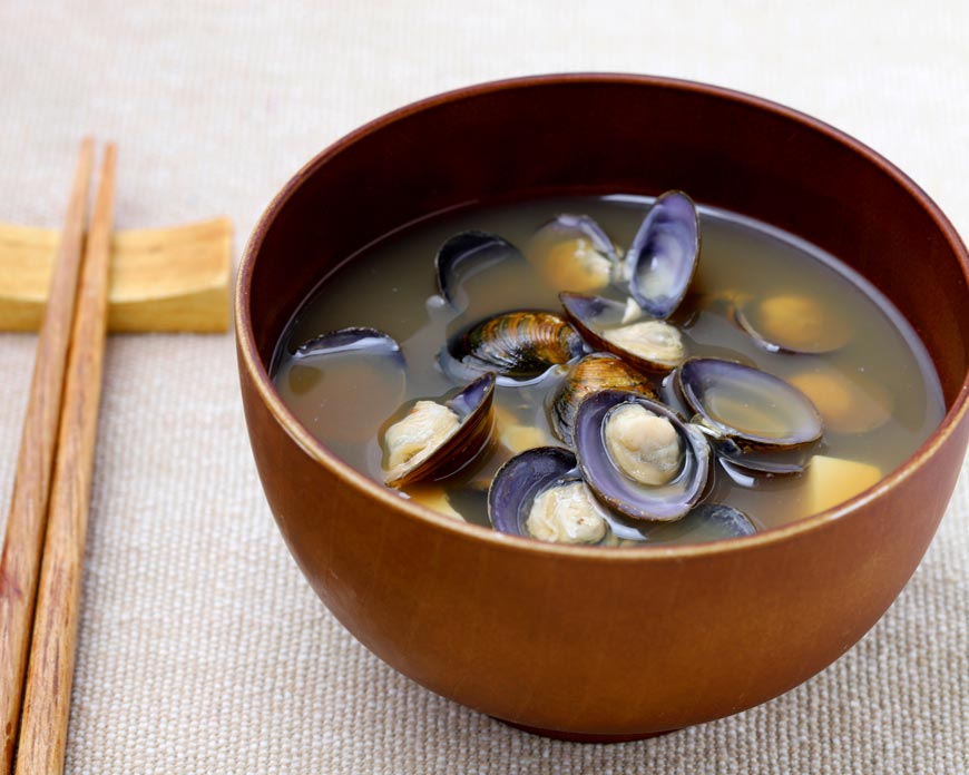 Miso Soup with Fresh Scallop