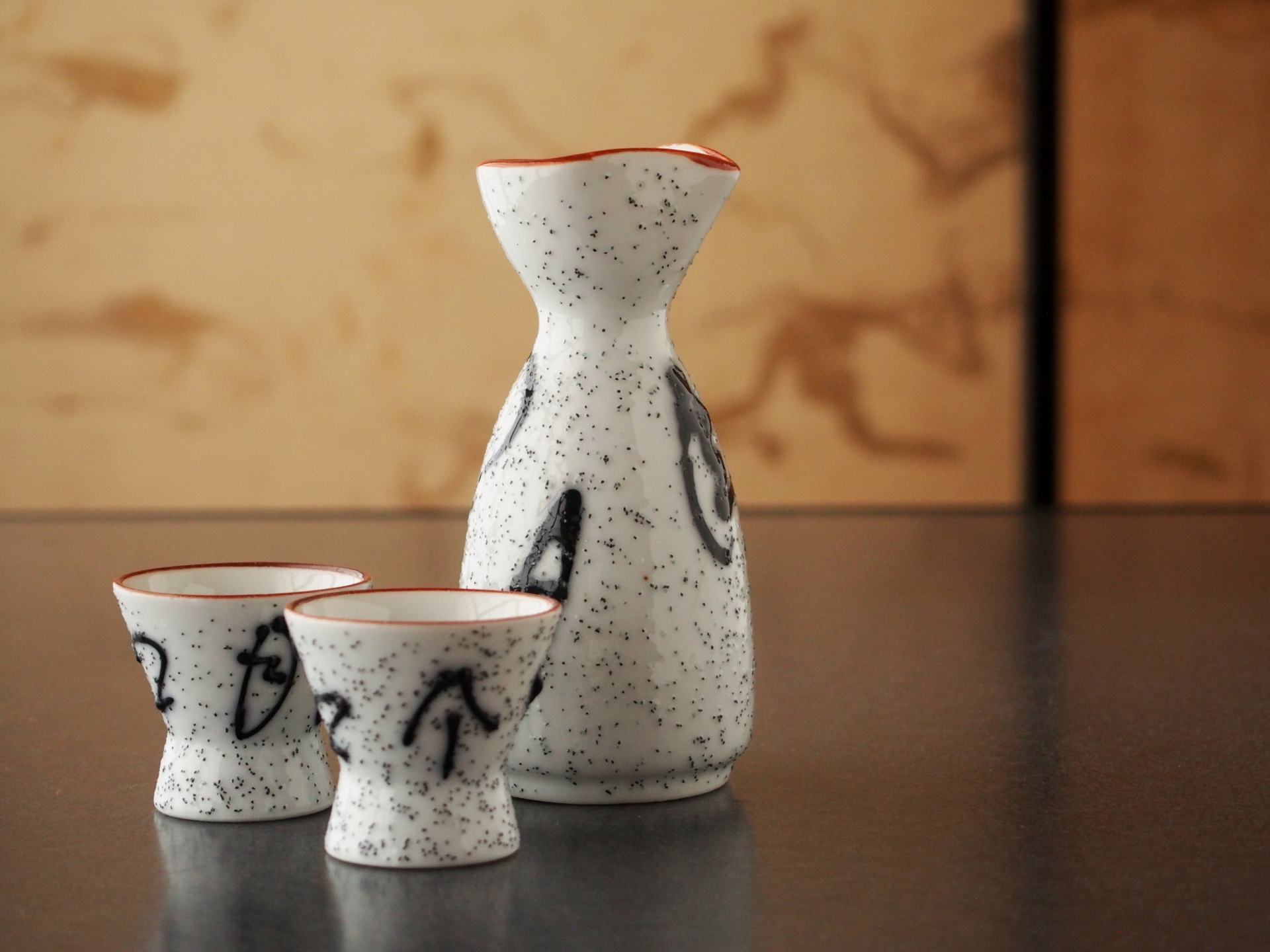 Sake Decanter And Cups