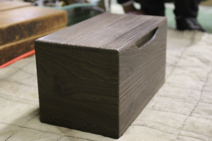 Kiri wood rice bin