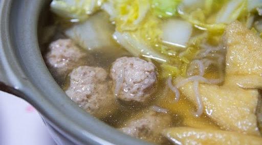 柚子胡椒の鶏団子鍋