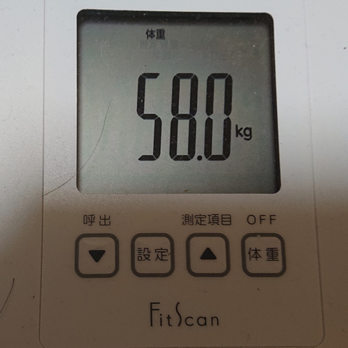 体重体脂肪データ