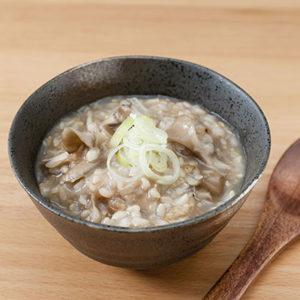 玄米のキノコのお粥