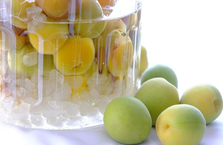 冷凍梅の梅シロップ