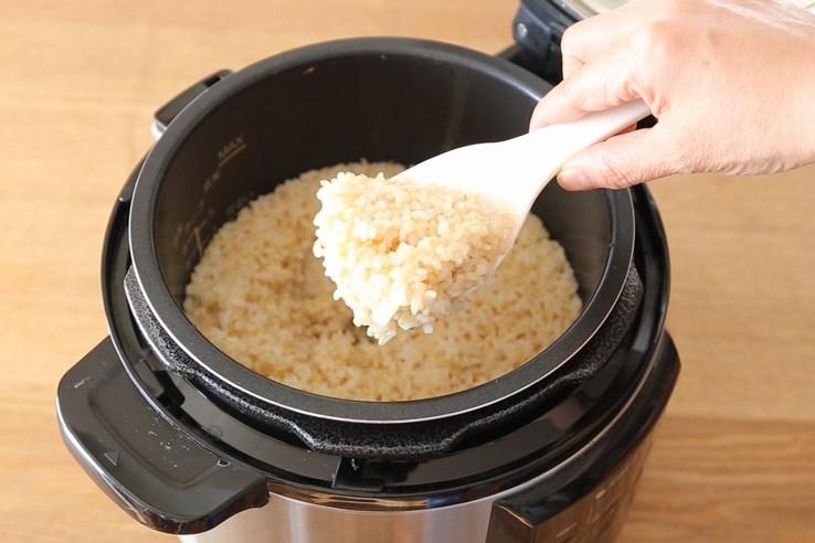 玄米の炊き方(炊飯器)